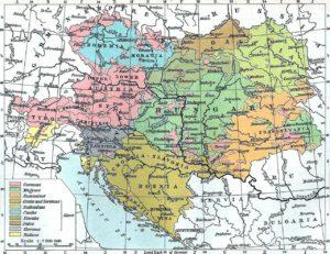 mappa ungheria austria bosnia jugoslavia